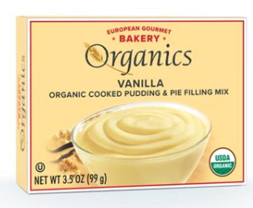 PUDDING, VANILLA, Organic, European Gourmet Bakery -   3.5 oz