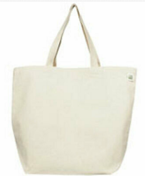 CANVAS BAG, 6 oz  weight WITH HANDLE, RECYCLED COTTON