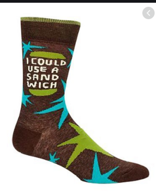 CREW SOCKS, MEN'S I COULD USE A SANDWICH, SIZE 7-12