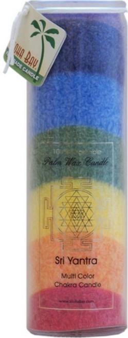 CANDLE, CHAKRA, RAINBOW, Aloha Bay - 8 inch pillar jar
