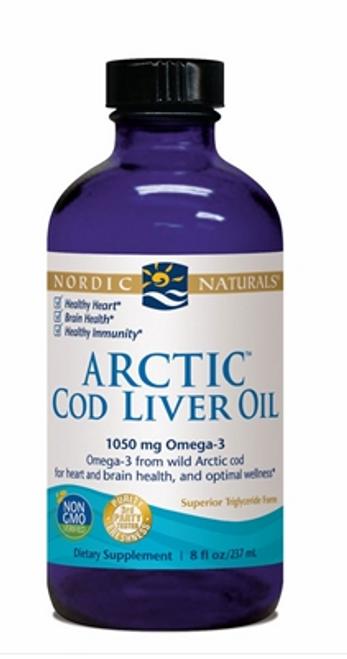 ARCTIC COD LIVER OIL PLAIN, Nordic, 8 fl oz