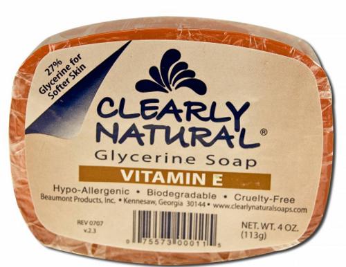 BAR SOAP, GLYCERINE VITAMIN E, Clearly Natural, 4 oz
