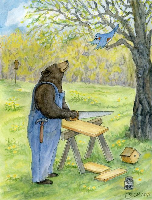 CARD BLUE'S REQUEST     Woodfield Press