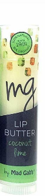 LIP BALM, COCONUT LIME- ORGANIC LIP BUTTER, MAD GAB'S, .15 oz *SALE* Reg.  $2.89