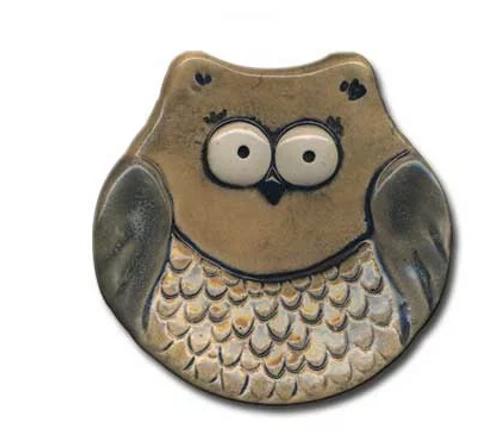 MINI DISH, OWL - 3 inches
