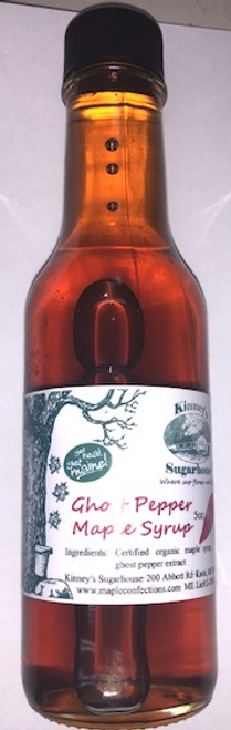 Hot Ghost Pepper Maple Syrup, Organic 5 oz