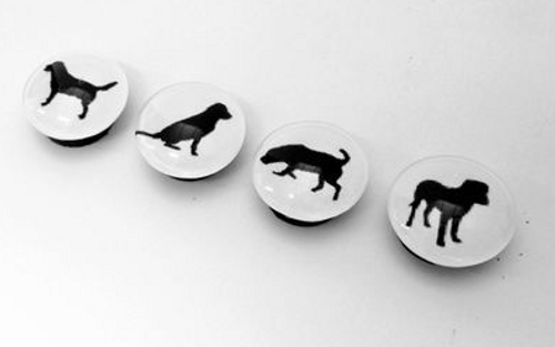 MAGNETS, GOOD DOG Silhouettes - set of 4
