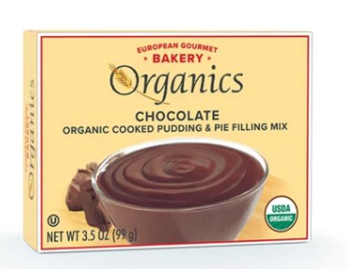 PUDDING, CHOCOLATE, Organic, European Gourmet Bakery -  3.5 oz