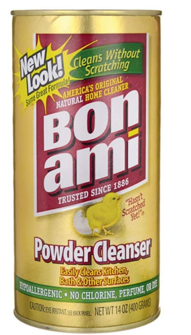 CLEANSER, POWDER, KITCHEN & BATH, Bon Ami, 14oz