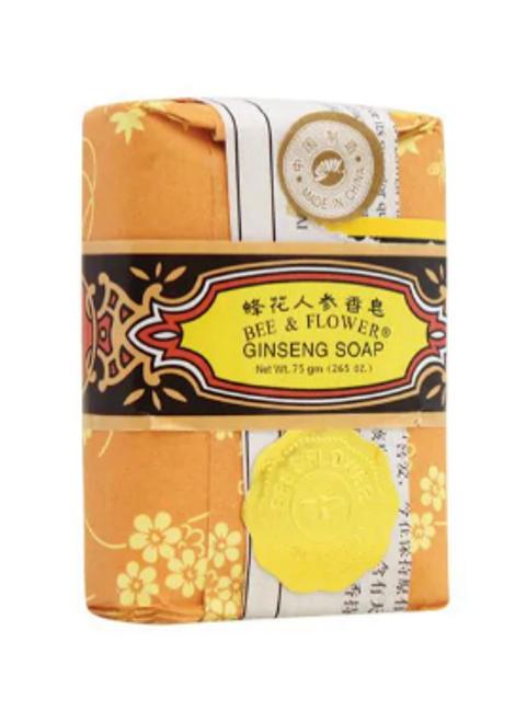 BAR SOAP,  GINSENG, Bee & Flower,  75 gram bar