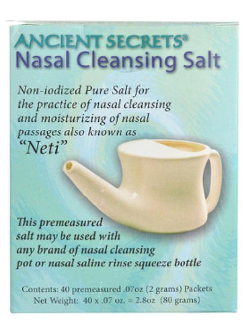 NASAL CLEANSING SALT PACKETS, Ancient Secrets,   40 ct