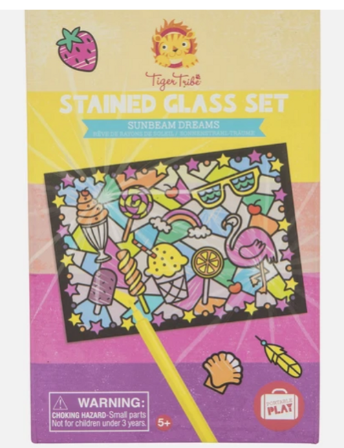 CRAFT KIT, Stained Glass, Tiger Tribe's Sunbeam Dreams - 1 kit