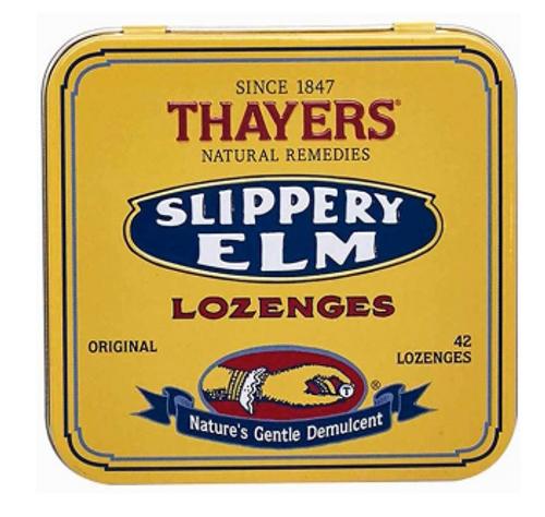 SLIPPERY ELM, ORIGINAL, Thayer's, 42 lozenges