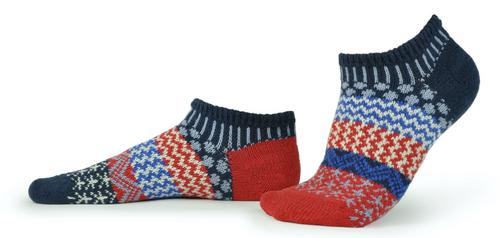 SOCKS, ANKLE SOCKS, LARGE STARS & STRIPES, Solmate Socks, 1 Pair