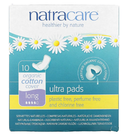 MENSTRUAL PADS- ULTRA WITH WINGS- Long 10 count