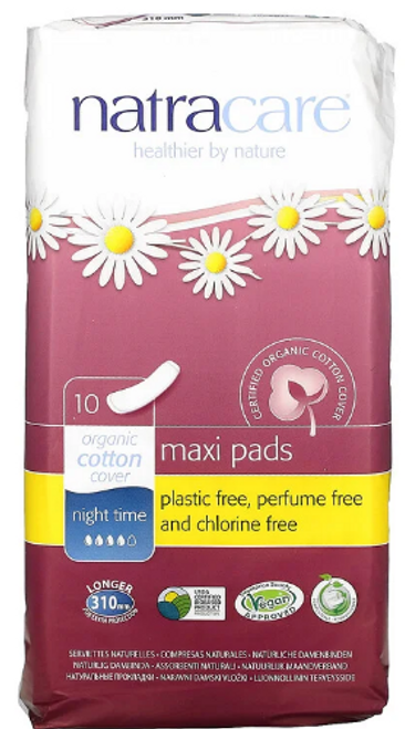 MAXI PADS,NIGHTTIME, EXTRA LONG, NATRACARE- 10 count