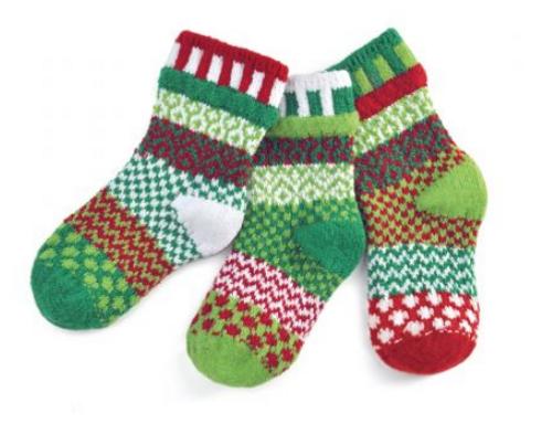 KIDS SOCKS, SMALL HUMBUG, Solmate - 3 socks