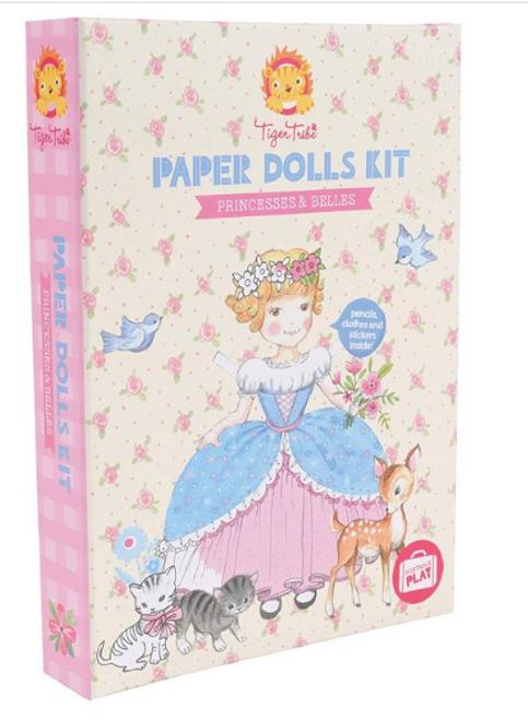 Paper Dolls - Princesses and Belles, Tiger Tribe - 1 Kit