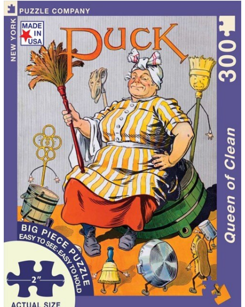 PUZZLE, Queen of Clean, NY Puzzle Co., 300 Big Piece