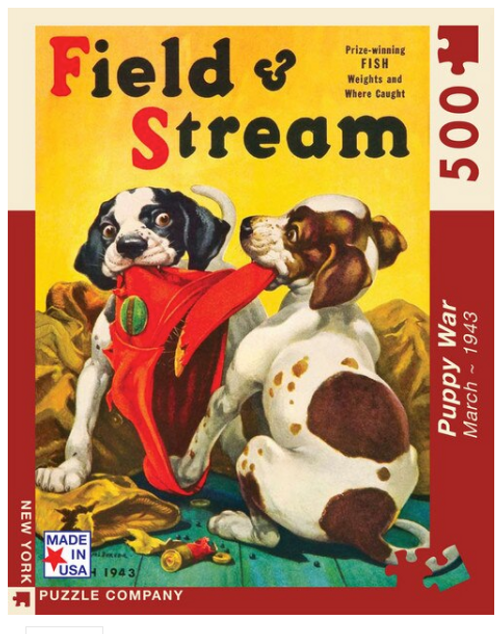 PUZZLE, Puppy War, NY Puzzle Co., 500 pc
