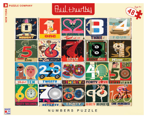 PUZZLE, Numbers, NY Puzzle Co., 48 piece