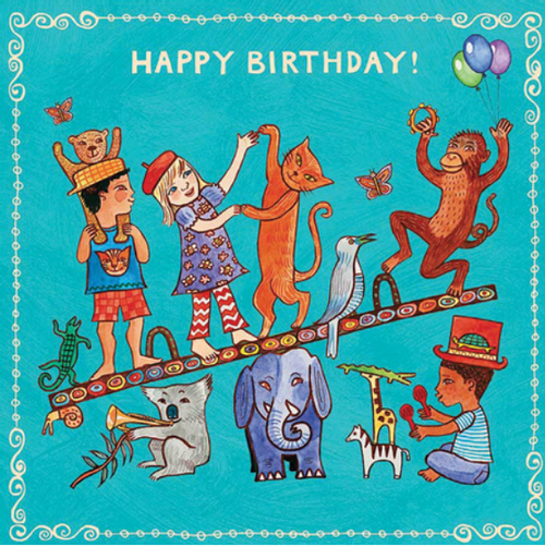 Card, KIDS BIRTHDAY CARD, ANIMALS, Putumayo