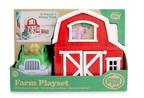 PLAYSET, FARM, Green Toys - 12 pieces + Truck set