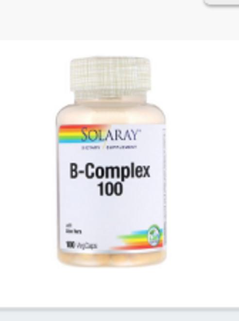 B-COMPLEX 100, Solaray, 100 vcaps