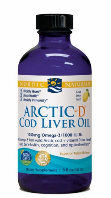 ARCTIC-D lemon cod liver oil, 8 fl oz