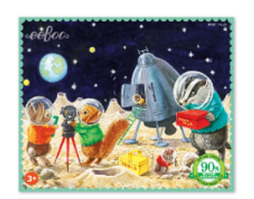 MINI PUZZLE, ON THE MOON, Eeboo - 36 pieces