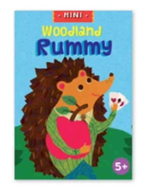 *SALE* MINI PLAYING CARDS, WOODLAND RUMMY, EEBOO   1 DECK