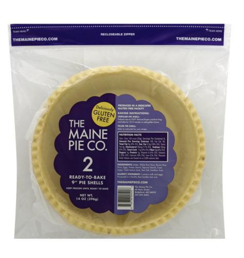 PIE SHELLS,  GLUTEN FREE, Maine Pie, 2 crusts