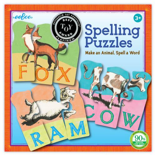 PUZZLE GAME, ANIMAL SPELLING, eeBoo - 10 puzzles