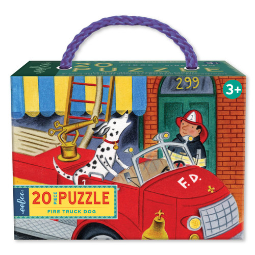 *SALE* PUZZLE, FIRE TRUCK DOG, eeBoo - 20 pieces Reg. $8