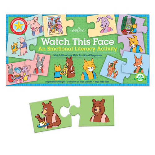 PUZZLE PAIRS, WATCH THIS FACE, Emotional Literacy, Eeboo