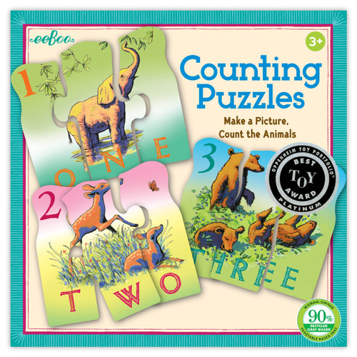 PUZZLE GAME, ANIMAL COUNTING, Eeboo