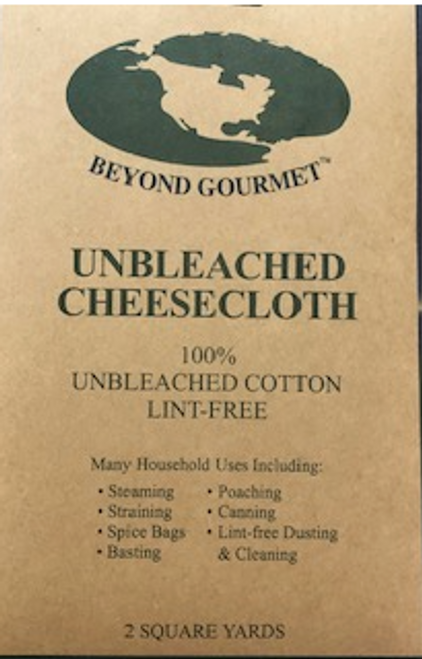 CHEESECLOTH, UNBLEACHED, Beyond Gourmet 2 SQ YDS