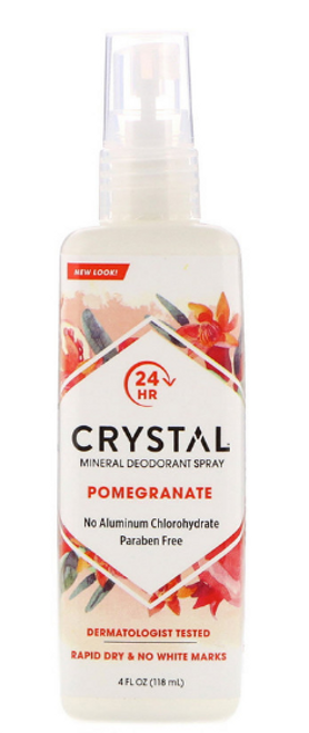 DEODORANT BODY SPRAY, POMEGRANATE, Crystal- 4 fl oz