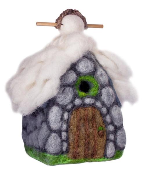 BIRD HOUSE: YETI HUT, Wild Woolies - 1 birdhouse