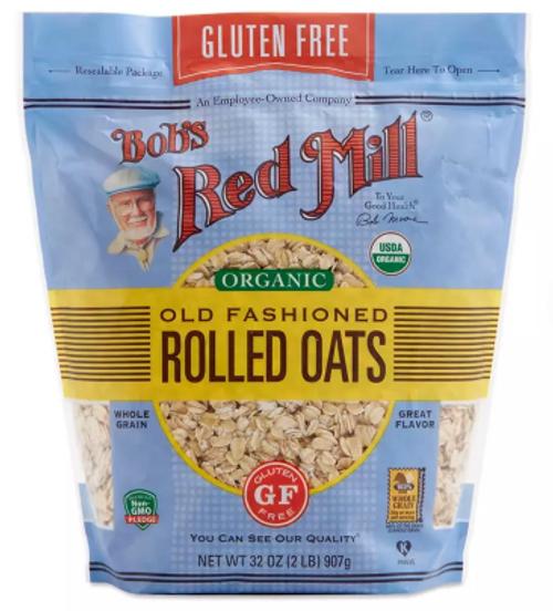 OATS, ROLLED Organic, Gluten-Free, BOB'S - 2 LB