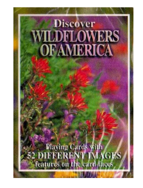 PLAYING CARDS, WILDFLOWERS OF AMERICA - 1 deck
