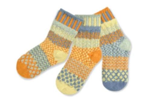KIDS SOCKS, SMALL PUDDLE DUCKS, Solmate - 3 socks