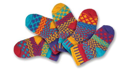 SOCKS, BABY Extra-Small FIREFLY, Solmate - 5 socks