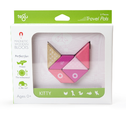 MAGNETIC WOODEN BLOCKS, KITTY, Tegu - 6 pieces