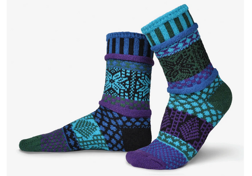 SOCKS, CREW SOCKS, MEDIUM BLUE SPRUCE, Solmate Socks