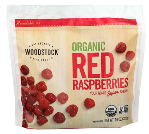 RASPBERRIES, RED, Organic 10 oz Frozen