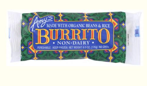 BURRITO, BEAN AND RICE, D/F, Amy's, 6 oz