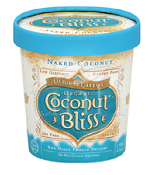 COCONUT BLISS, Ice Cream NAKED COCONUT, Luna & Larry's, 1 pint