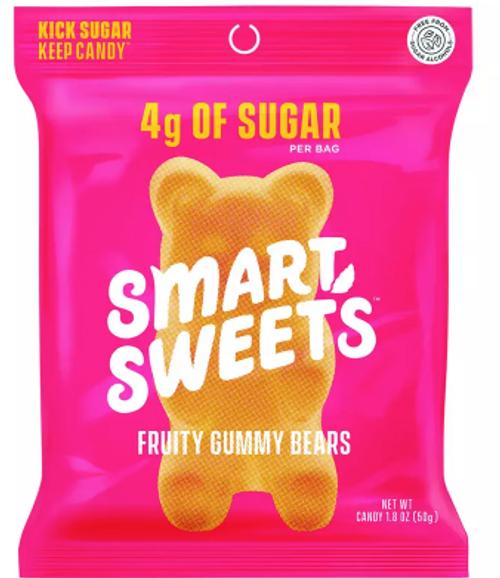 GUMMY BEARS, FRUITY, LOW SUGAR,  Smart Sweets, 1.8 oz *SALE* Reg. $3.89