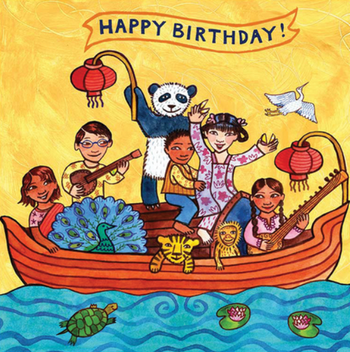 Card, KIDS BIRTHDAY CARD, PANDA, Putumayo